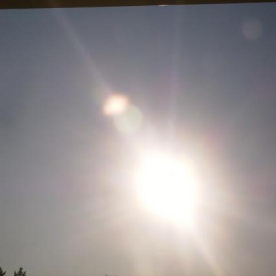 Soleil avec cellules de lumière