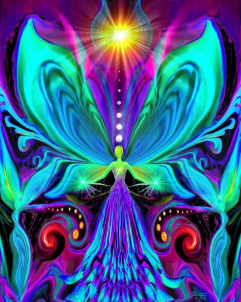 Lightworker's painting violet turquoise