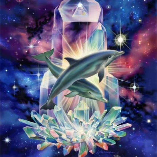 Peinture - Crystal-Dolphins-Full