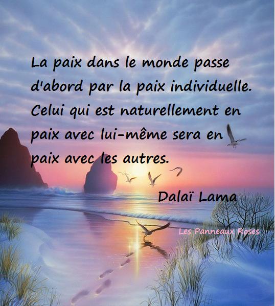 A dalai lama paix