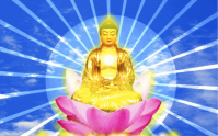BouddhaLotusRayons