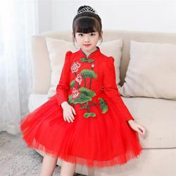 Chinois ancienne robe de fleur costume hanfu traditionnel nouvel an filles belle danse robe v tements