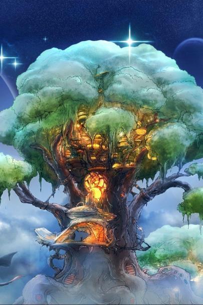 Fantasy tree art magic 96511 800x1200